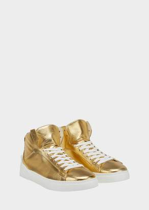 Versace Sculpted Medusa Laminated Sneakers