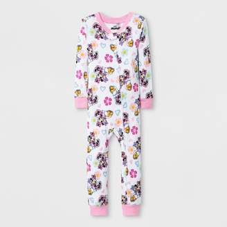 Minnie Mouse Toddler Girls' Minnie Mouse Blanket Sleeper - White/Pink