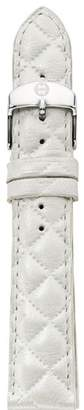 Michele Quilted Leather Watch Strap, 16-18mm