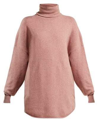 Extreme Cashmere - No. 52 Roll Cashmere Blend Sweater - Womens - Pink