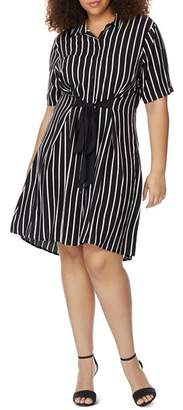 Wilson Rebel x Angels Plus Striped Tie-Front Shirt Dress