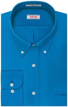 Izod Aqua Solid Dress Shirt - Big
