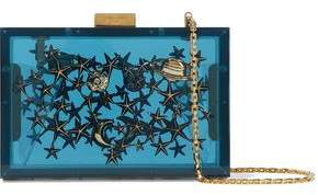 Valentino Embellished Acrylic Box Clutch