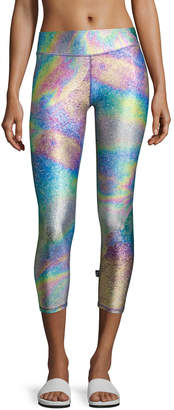 Terez Tall Band Capri Performance Leggings, Multi