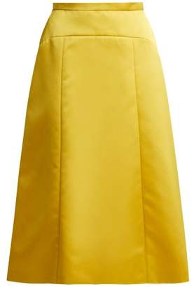 Rochas A Line Duchess Satin Skirt - Womens - Yellow