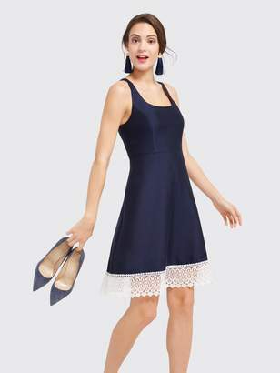 Draper James Lace Hem Fit and Flare Dress