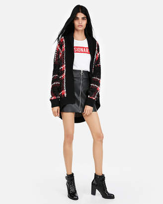 Express Plaid Sweater Coat
