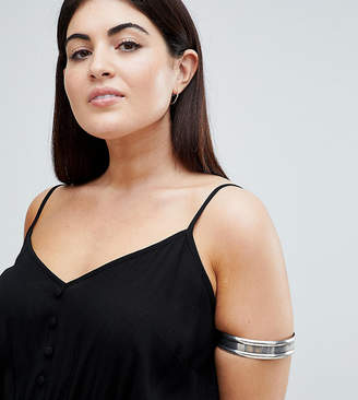 Asos DESIGN Curve Thick Burnished Arm Cuff