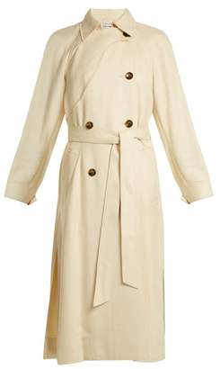 Elizabeth and James Dakotah Double Breasted Tie Waist Trench Coat - Womens - Cream