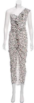 Yigal Azrouel One-Shoulder Ruched Dress w/ Tags