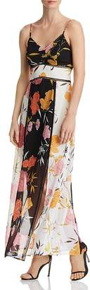 GUESS Celora Floral-Print Color-Block Maxi Dress