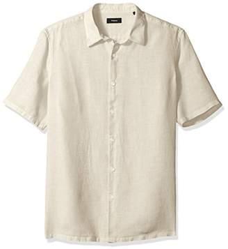 Theory Men's Irving Short Sleeve Summer Linen Shirting