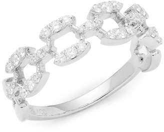 KC Designs Women's Stack & Style Diamond & 14K White Gold Ring