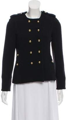 Milly Wool-Blend Long Sleeve Double-Breasted Jacket