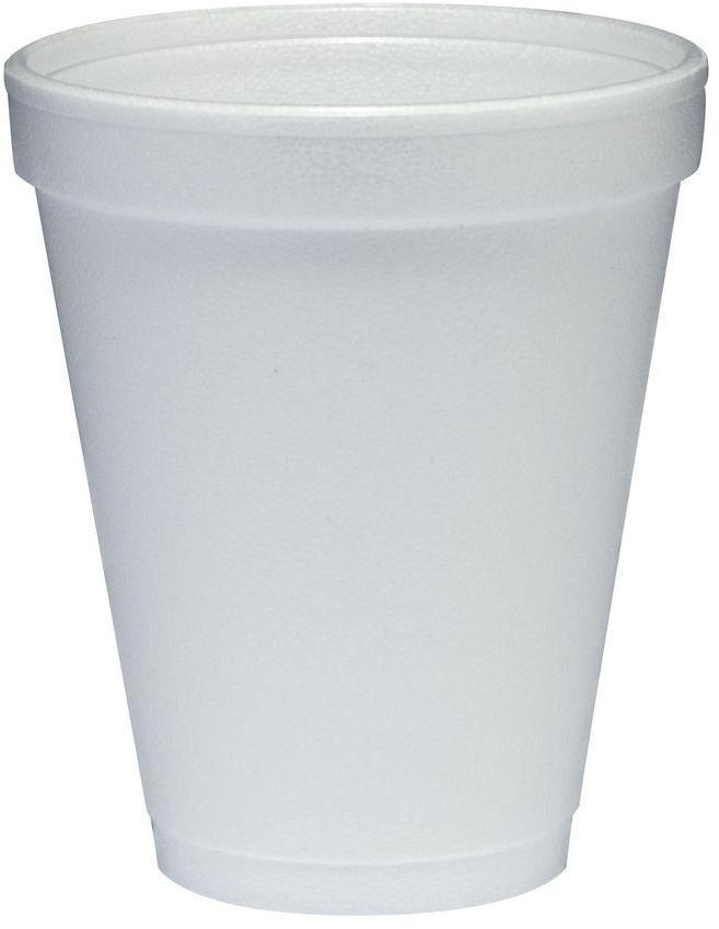 DART Insulated Foam Cups, 10 oz., White, 1000 Per Case