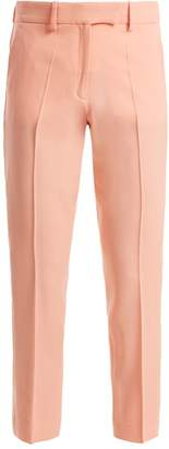 Racil - Aries Skinny Wool Cropped Trousers - Womens - Light Pink