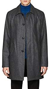 John Vizzone JOHN VIZZONE MEN'S WOOL-BLEND TOPCOAT-GRAY SIZE XXL