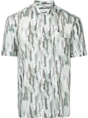 Cerruti camouflage print shirt