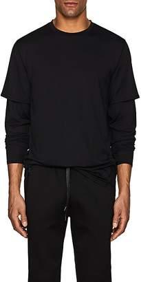 Barneys New York Men's Mesh Layered T-Shirt