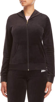 Juicy Couture Glitter Heart Velour Hoodie