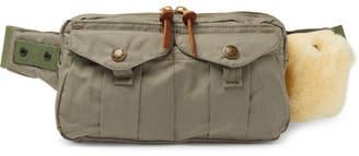 Filson Fishing Shearling-Trimmed Cotton-Canvas Belt Bag