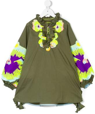 Yuliya Magdych Kids pansies tunic dress