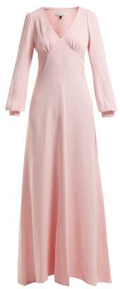 Bella Freud Nova Crepe Puff Shoulder Dress - Womens - Pink