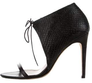 Tibi Lizard Tie-Accented Sandals
