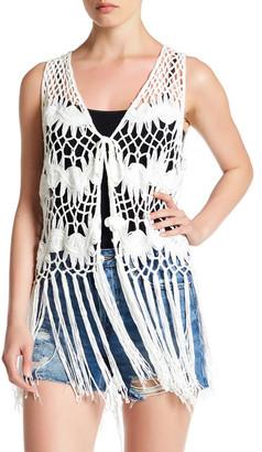 Steve Madden Longline Crochet Vest $48 thestylecure.com