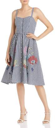 French Connection Lavande Gingham & Floral Midi Dress