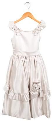 Joan Calabrese Girls' Satin Sleeveless Dress