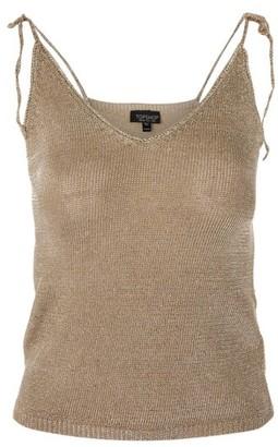 Women's Topshop Metallic Tie Knit Camisole $68 thestylecure.com
