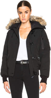 Canada Goose Chilliwack Bomber with Coyote Fur in Black | FWRD