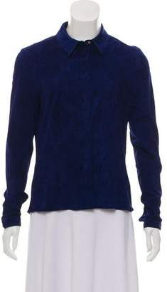 Jitrois Long Sleeve Suede Top
