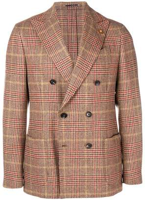 Lardini checked print jacket