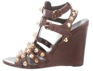 Balenciaga Stud-Embellished Wedge Sandals