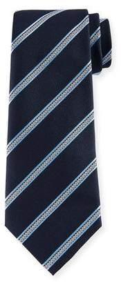 Emporio Armani Arrow Striped Silk Tie, Navy
