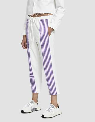 Dima Leu Velvet Stripe Track Pant in Lilac