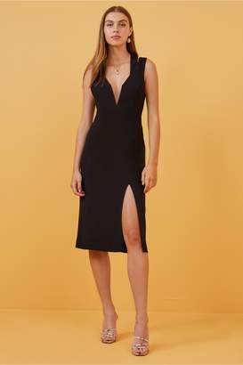 Finders Keepers LINES DRESS black