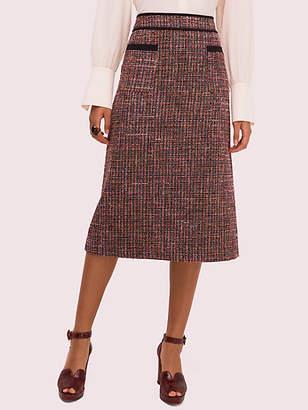 Kate Spade Tweed Midi Skirt, Black - Size 0