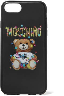 Moschino Printed Silicone Iphone 6, 6s, 7 And 8 Case - Black