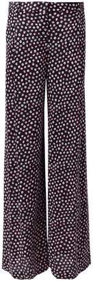 Diane von Furstenberg dotted print trousers
