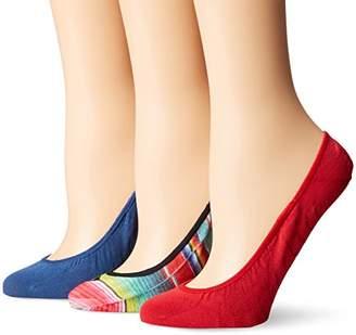 Sperry Women's 3 Pack Printed Micro Liner Socks