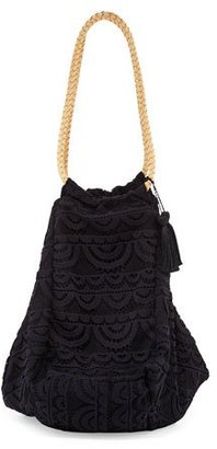 PilyQ Allison Crocheted Lace Beach Tote Bag $144 thestylecure.com