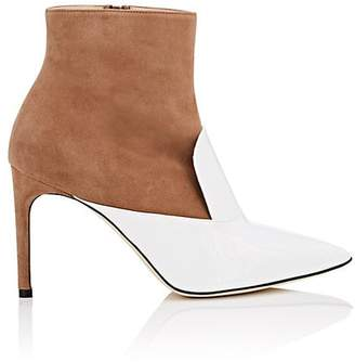 GIANNICO Women's Oscar Suede & Patent Leather Ankle Boots