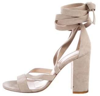 Barneys New York Barney's New York Suede Multistrap Sandals