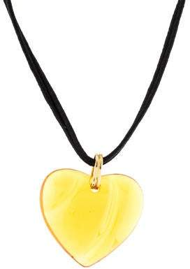 Baccarat 14K Crystal Heart Pendant Necklace