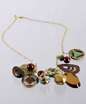 Lenora Dame brown bauble charm necklace