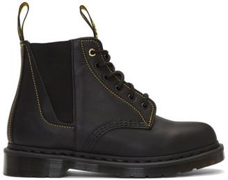Yohji Yamamoto Black Lace Up Boots