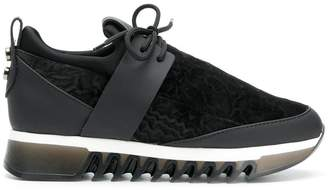 Alexander Smith velvet platform sneakers